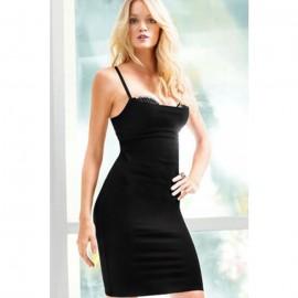 Straps Grace Mini Dress Black