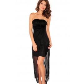 Strapless Backless Black Dress