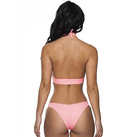 Sweet Adorable Pink Cross Hollow-out Bikini