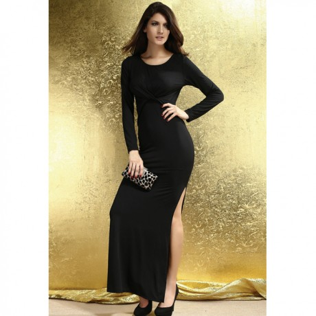 Soft Touch Jersey Maxi Dress Black