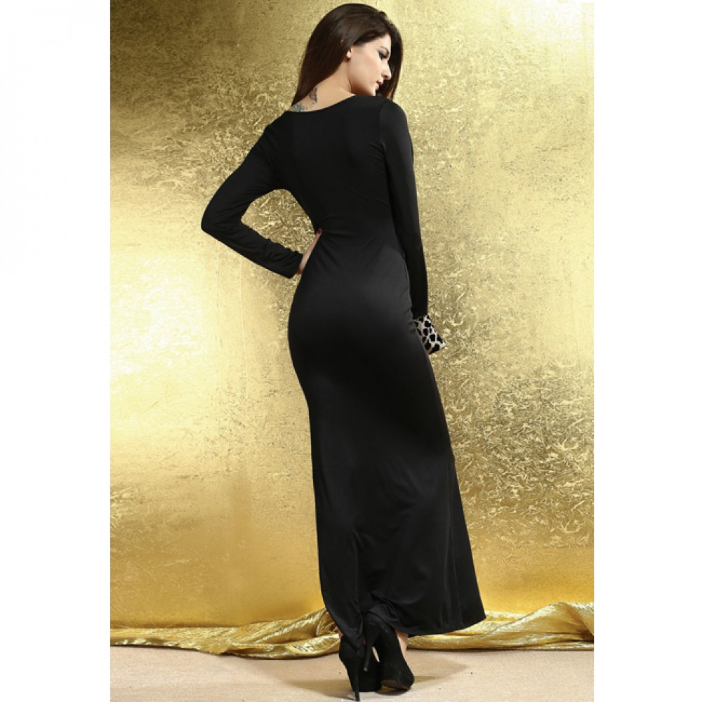 Soft Touch Jersey Maxi Dress Black