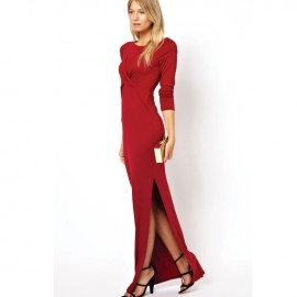 Soft Touch Jersey Maxi Dress Red