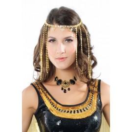 Fashion Vintage Black Resin Diamond Trendy Necklace