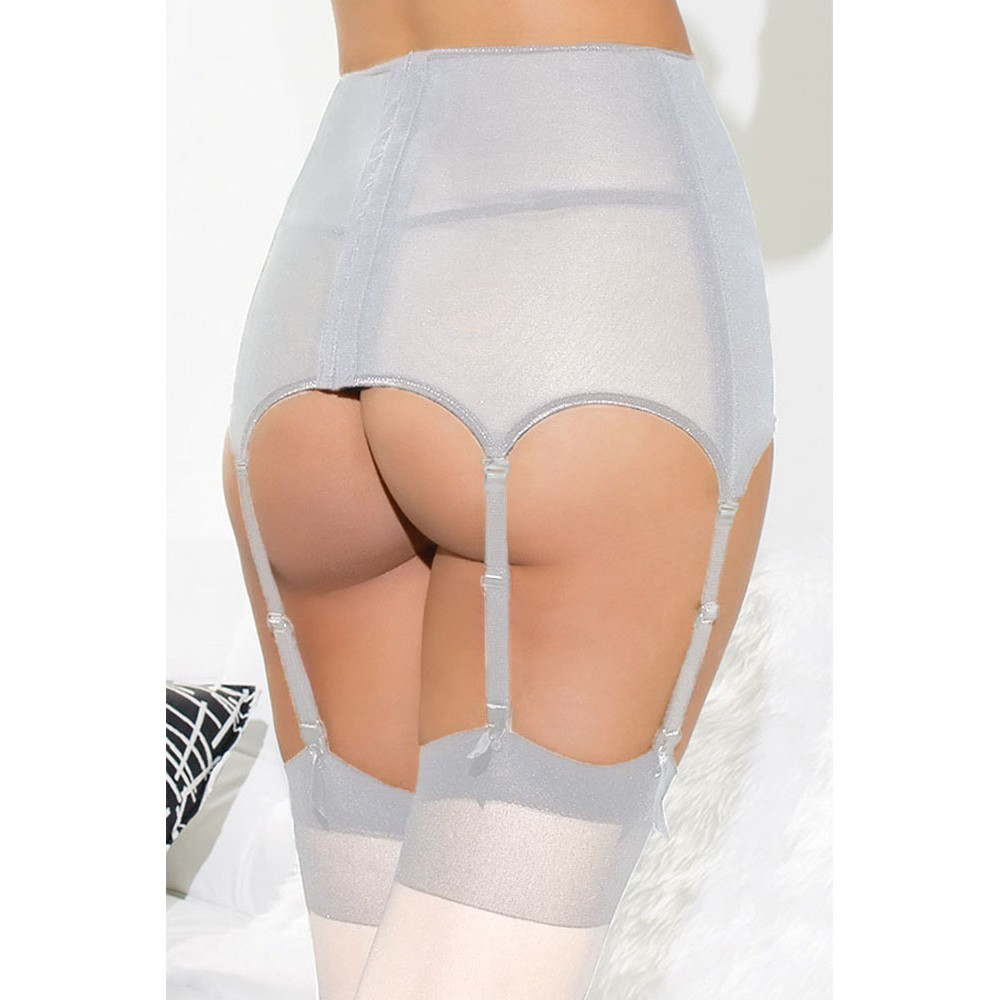 Lace Hollow Out White Garter Belt