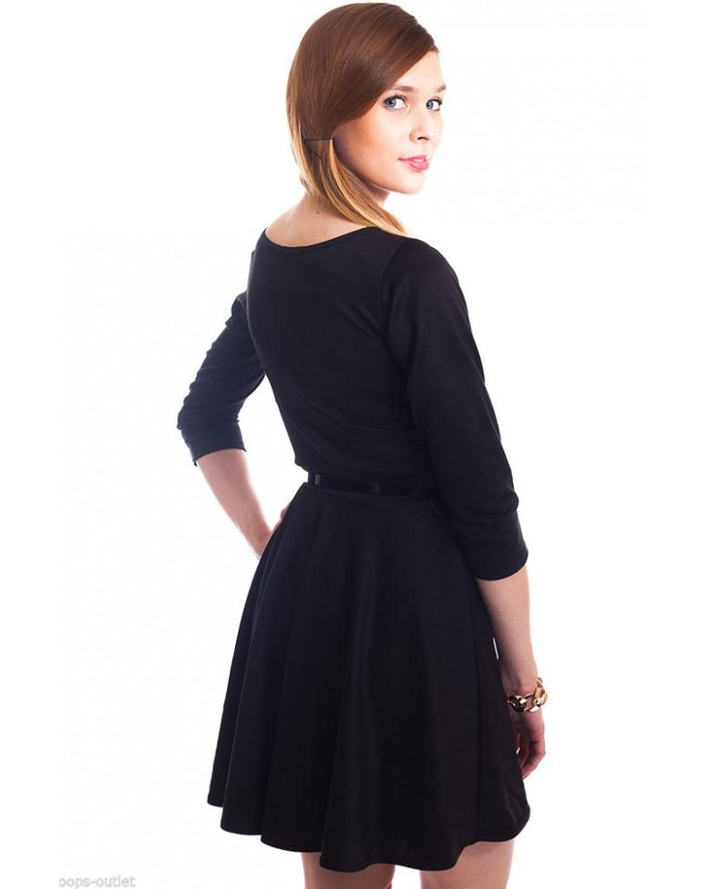 roxita official site black plain belted skater mini