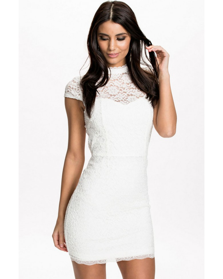 Roxita Com Official Site High Neck Backless White Lace