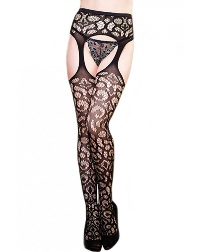 official site exotic scrollwork crochet high waist cutouts pantyhose black. Black Bedroom Furniture Sets. Home Design Ideas