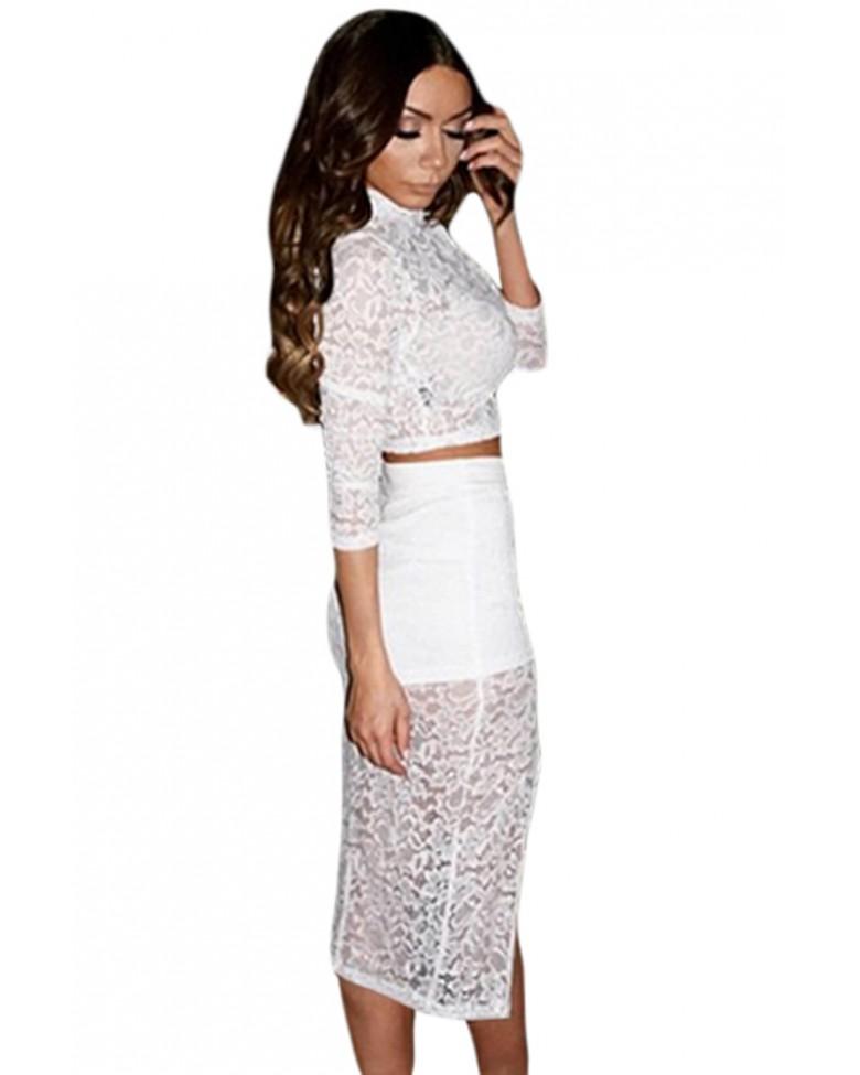 roxita official site white sheer lace crop top midi